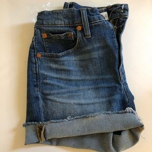 Madewell high waisted denim shorts